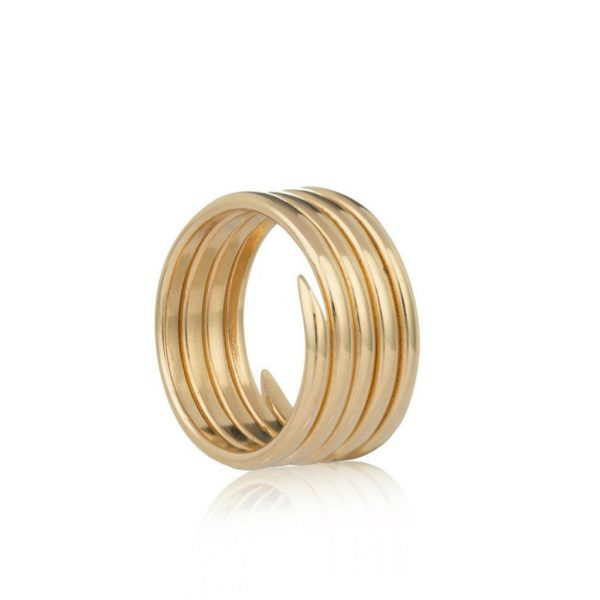 Charm ring gold 5 coil