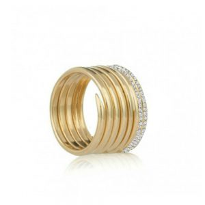 Diamond gold charm ring