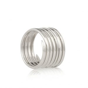 silver coil ring UK
