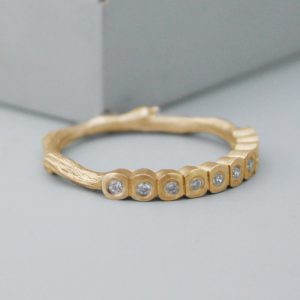 twig eternity ring diamond and 9ct gold