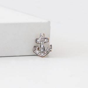 Diamond Anchor Ring Charm
