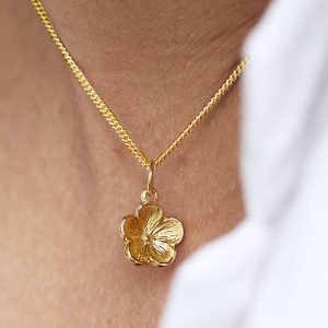 Forget Me Not Flower Pendant