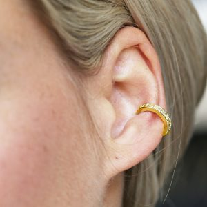 Gold Crystal Ear Cuff