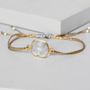 Gold Crystal Quartz Friendship Bracelet