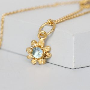 Gold Daisy Topaz Necklace