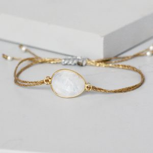 Gold Moonstone Friendship Bracelet