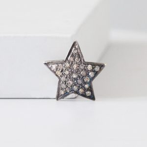 Large Diamond Star Ring Charm