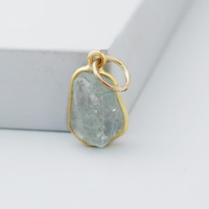 Raw Aquamarine Pendant