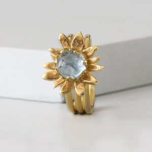 Sunflower Band Ring