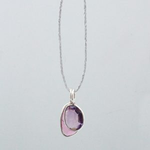 Amethyst tourmaline necklace