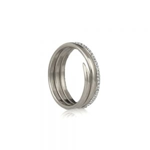 silver coil rings