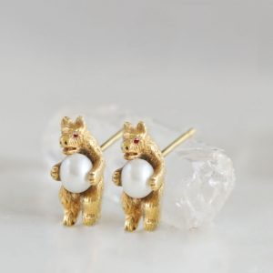 bear earring gold