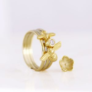 honey bee charm ring