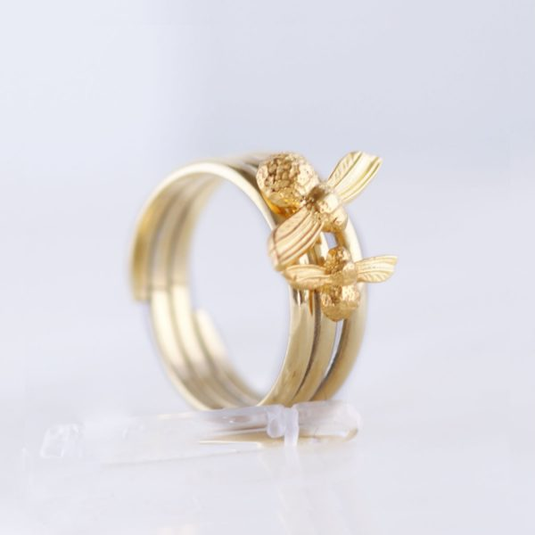 Gold Bee rings