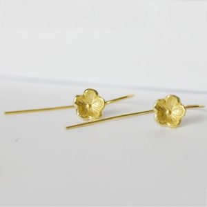 Delicate Flower Drop Earrings