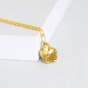 Gold Flower Forget Me Not Necklace