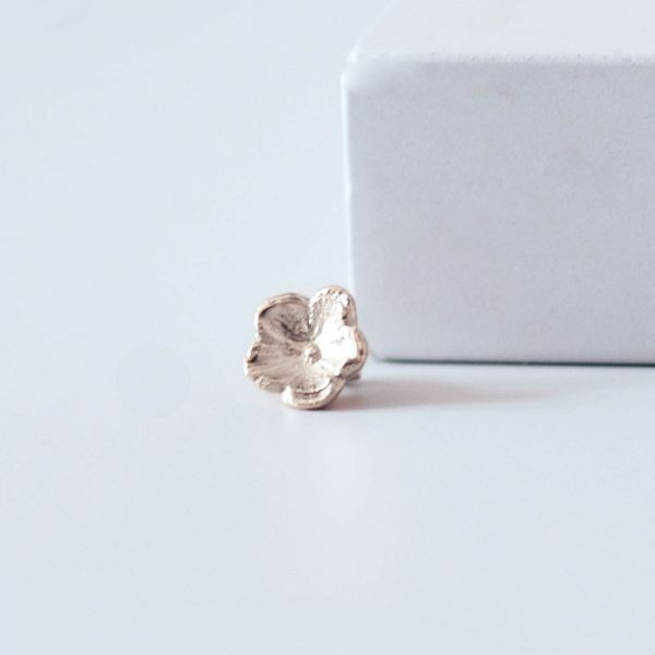 small silver forget me not slider ring charm