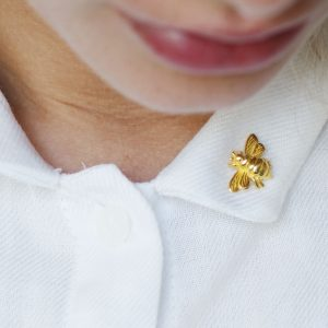 Gold Bee Brooch