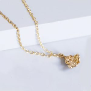 Leaf necklace Gold