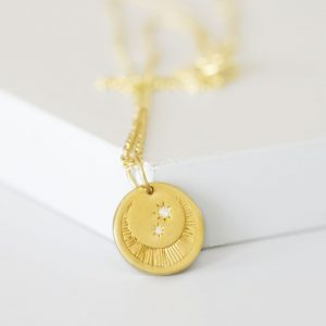 Gold Luna Moon Necklace