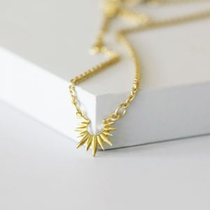 Sun Necklace Gold