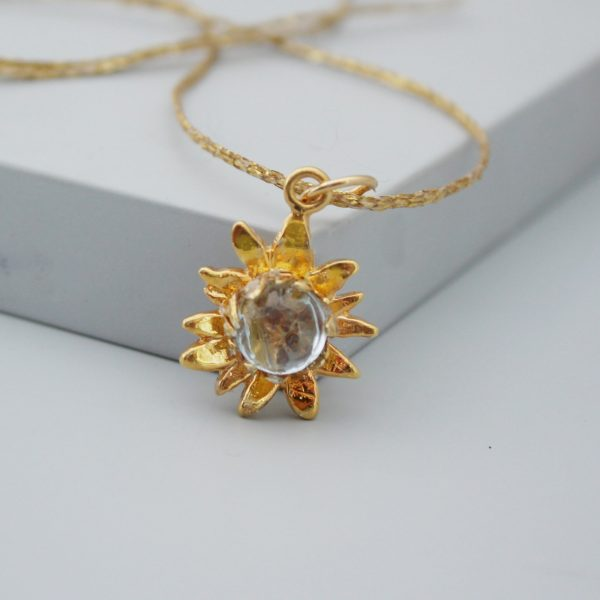 Gold Sunflower Necklace