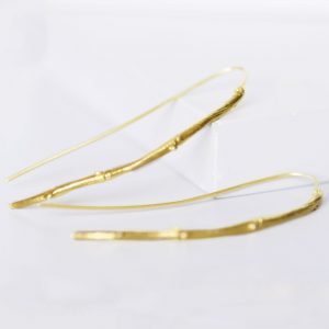 twig drop earrings gold
