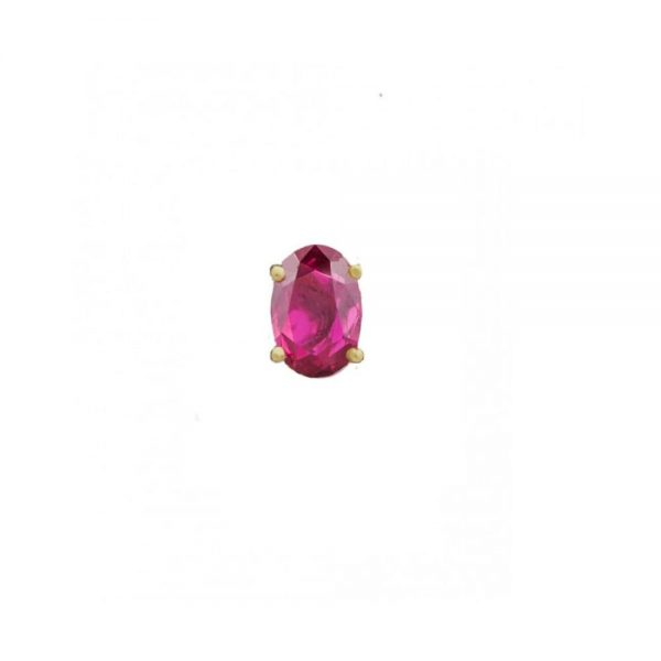 oval ruby slider ring charm