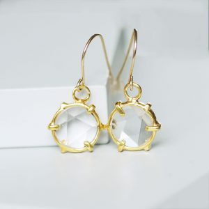 kaleidoscope crystal drop earrings