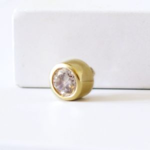 large gold aura slider ring charm