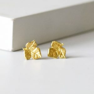 Gold Ivy leaf earrings