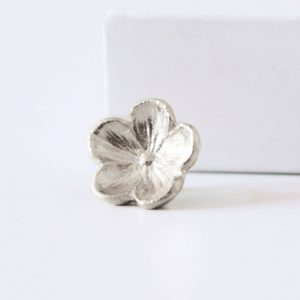 Large Sterling silver forget me nor ring charm