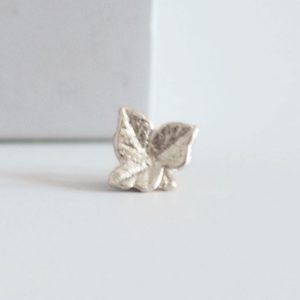 large ivy silver ring charm