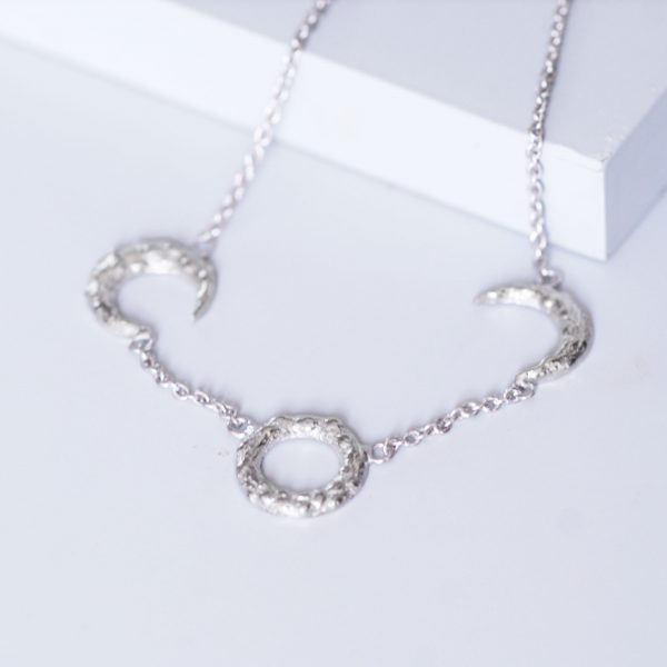 silver moons necklace