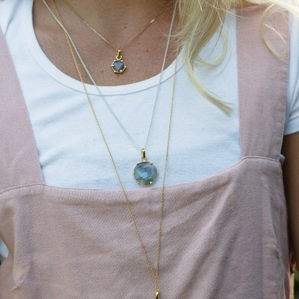 moonstone necklace gold