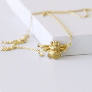Gold Queen Bee Necklace