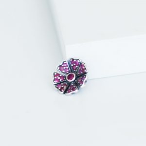 ruby poppy slider ring charm