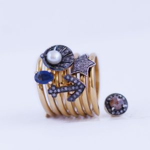 gold charm rings