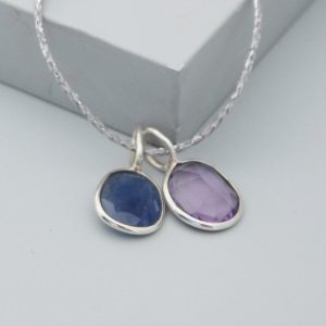 sapphire charm pendant for necklace