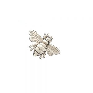 honey bee slider ring charm silver