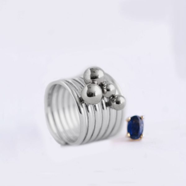 silver ball charm for rings