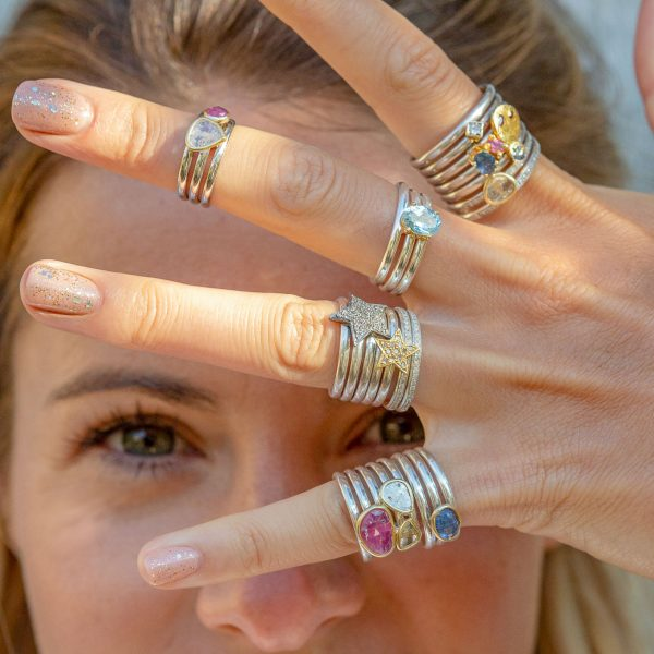 Stacking Rings With Charms