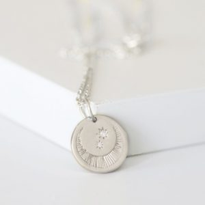Silver Luna Moon Necklace