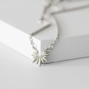 Mini silver sun necklace