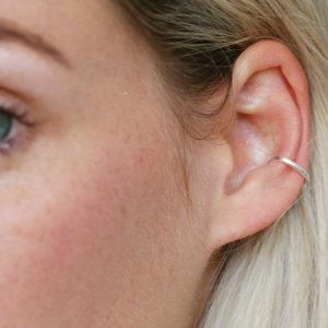 Sterling silver simple ear cuff