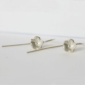 Sterling Silver Forget Me Not drop Earrings