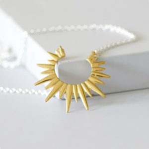 Gold Sunbeam Necklace