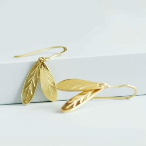 gold sycamore earrings