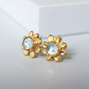 Gold Daisy Stud Earrings