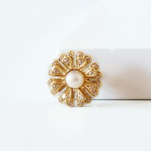 Vintage flower slider ring charm